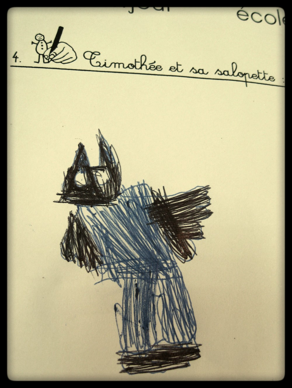 timothé noir bleu